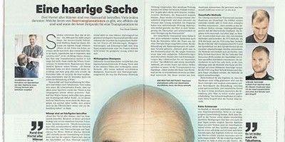 NEWS berichtet über Haartransplantation von Moser Medical
