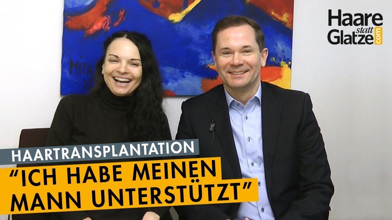 Interview Haartransplantation: Ehefrau unterstützte ihren  Mann
