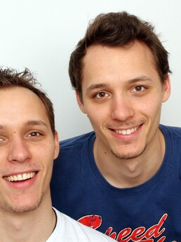 Stefan David und Stefan Dominik 1 Jahr nach der Behandlung