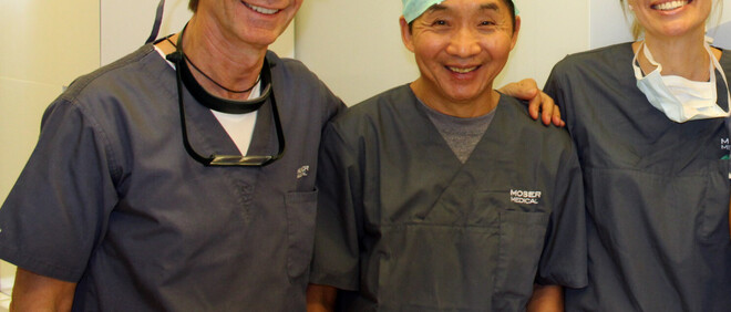 Dr. Wong besucht Moser Medical