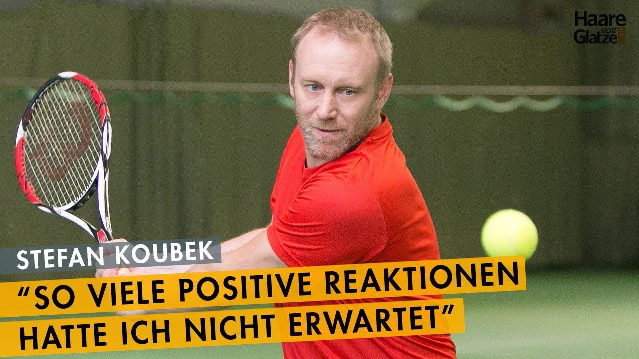 Stefan Koubek - 5 Monate nach der Haarverpflanzung - Zwischenergebnis beim Tennis-Ass
